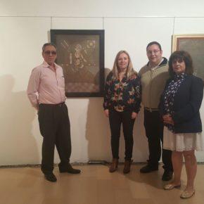 Los concejales y la procuradora regional de Ciudadanos, en la inauguración de la exposición de Pérez Refoyo