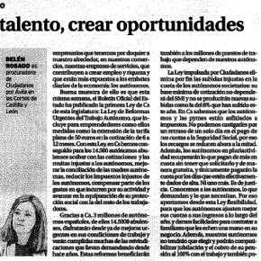 """Belén Rosado – """"Impulsar el talento, crear oportunidades"""""""