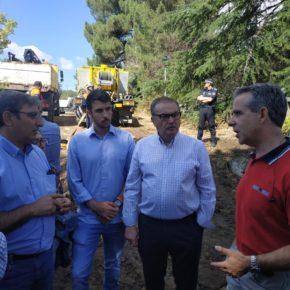 Manuel Hernández (Cs) insta al Gobierno a declarar zona catastrófica la superficie afectada por la tromba de agua en Las Navas del Marqués (Ávila)